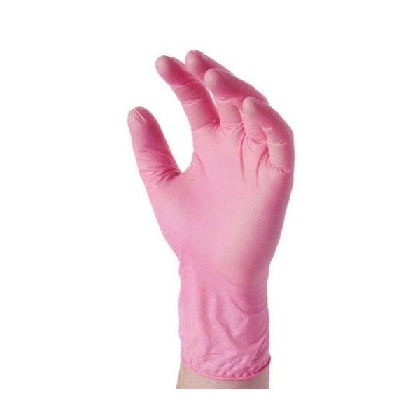 rękawice nitrylowe różowe