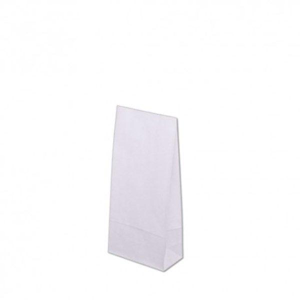 Torba papierowa klockowa 80x65x19 mm 70g/m2 biała a1500