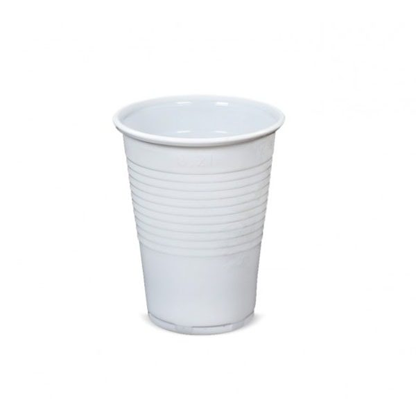 kubek plastikowy biały 200ml